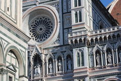 Florence, Italie, cathédrale, détail Photographie stock