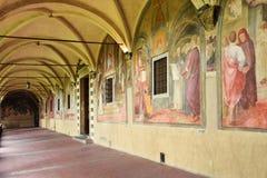 FLORENCE, ITALIE - 19 SEPTEMBRE 2017 : Intérieur de fresc de cloître Photographie stock