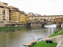 14 06 2017 Florence, Italie : Vue de pont en pierre médiéval Ponte Photo stock