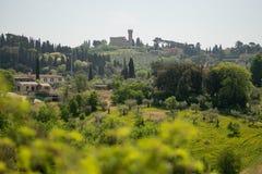 Florence Italien - 23 April, 2018: Boboli trädgårdar, sikt från området framme av porslinmuseet royaltyfri fotografi