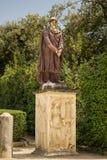 Florence Italien - 23 April, 2018: En av två Dacian fångestatyer i Boboli trädgårdar arkivbilder