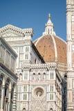 Florence Italien - 22 April, 2018: fasad av Cattedrale di Santa Maria del Fiore Cathedral av St Mary av blomman Royaltyfri Foto