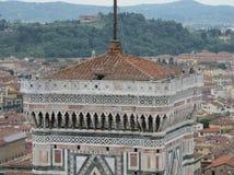 Florence Italien DuomoKlocka torn arkivfoto