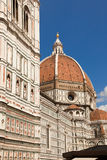 Florence Italien, Florence Cathedral, Brunnaleski kupol, kupol för cityscapefr Brunnaleski, cityscape från det Giotto tornet Royaltyfria Bilder