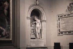 Florence Italien - September 08, 2017: Kyrka av Santa Maria Novella Fotografering för Bildbyråer