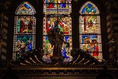 Florence Italien - September 08, 2017: Kyrka av Santa Maria Novella Royaltyfria Foton