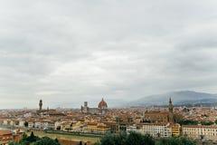 Florence Italien, sikt av staden Royaltyfri Bild