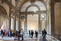 Interior of Pazzi Chapel  by Filippo Brunelleschi Basilica Sant Stock Photography