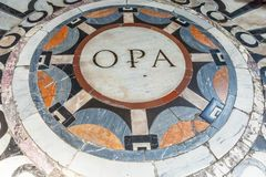Part of the floor of the Cathedral Santa Maria del Fiore Duomo Stock Images