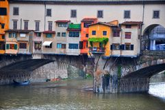 Details of the Old bridge in Florence city , Italy Stock Photos
