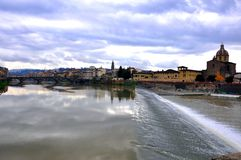 Amazing sky landscape in Florence city , Italy Royalty Free Stock Photos