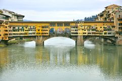Florence old bridge, Ponte Vecchio , Italy Royalty Free Stock Photography