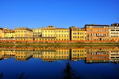 Buildings by the river in Florence city , Italy Royalty Free Stock Photography