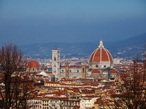 Florence, Italy. View of cathedral in Florence, photo was taken in February Royalty Free Stock Image