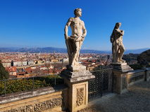 Florence, Italy. Sculptures in Bardini Gardens, photo was taken in February Royalty Free Stock Photography