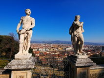 Florence, Italy. Sculptures in Bardini Gardens, photo was taken in February Stock Photos