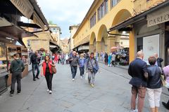 Florence shopping Stock Image
