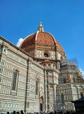 The Duomo, Florence, with scaffolding for maintenance work royalty free stock photo
