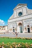 Basilica of Santa Maria Novella church and square in Florence, Italy royalty free stock image