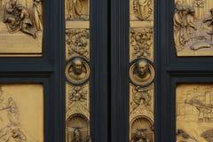 Florence, italy, baptistery portal of ghiberti, detail Stock Photos