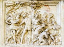 Florence italy bas-relief Stock Photography
