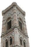 Florence Italy Bell Tower av en italiensk konstnär kallade på GIOTTO Royaltyfri Fotografi