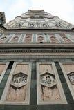 Florence Italy-bodemmening van Klokketoren van Kathedraal door ital stock fotografie