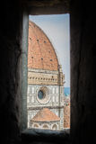 Florence, italy: cathedral dome details Royalty Free Stock Photo