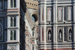 Florence, italy, cathedral, marble details Royalty Free Stock Photos