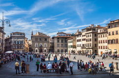 Florence Italy - Centraal Vierkant royalty-vrije stock fotografie