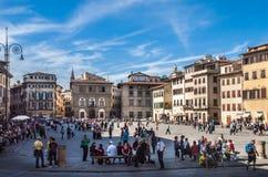 Florence Italy - central fyrkant Royaltyfri Fotografi