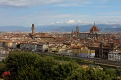Florence Italy City Landscape Panoramic View Royalty Free Stock Photos
