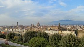 Florence Italy City View. Mountain Top View of Giotto's Bel Tower Royalty Free Stock Images