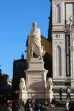 Florence, italy, Dante Alighieri monument, santa croce square Stock Photos
