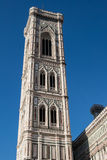 Florence, Italy. Detail of the bell tower during a bright sunny day. Royalty Free Stock Images