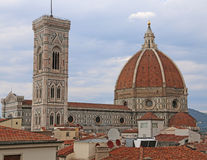 FLORENCE in Italy with the dome of the Cathedral and the bell To Stock Photos