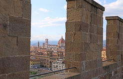 FLORENCE in Italy with the dome of the Cathedral and the bell To Stock Images