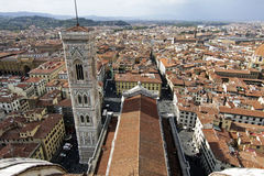 Florence, Italy Duomo. The view from the top of the dome of Florence, Italy's Duomo Stock Images