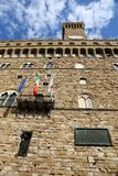Florence Italy Facade of the old palazzo in the square of the ci. Florence Italy Main facade of the old palazzo in the main square of the city called Piazza Royalty Free Stock Images