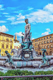 Florence, Italy, fountain of Neptune Stock Photo