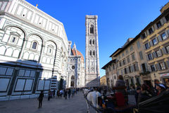 Florence, italy, Giotto's bell tower and tourists Stock Photo