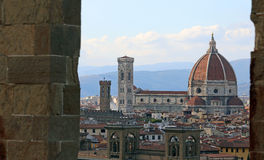 FLORENCE in Italy with the great dome of the Cathedral Royalty Free Stock Photography