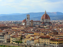 FLORENCE in Italy with the great dome of the Cathedral Stock Images