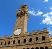 Florence Italy Historic clock tower building Stock Photos