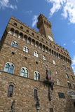 Florence Italy Historic palace called Palazzo Vecchio in the Sig. Florence Italy Historic clock tower building called Palazzo Vecchio in the Signoria square Royalty Free Stock Photos