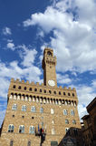 Florence Italy historic town hall called Palazzo Vecchio Royalty Free Stock Photo