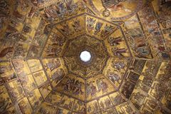 Florence, Italy juli 2014 ceiling church Florence royalty free stock images