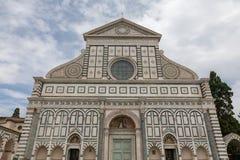 Panoramic view of exterior of Basilica of Santa Maria Novella stock photo