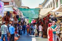 The San Lorenzo market, a popular tourist outdoor market in Flor royalty free stock photos