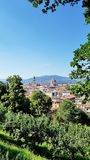 View of Florence, Italy, from a hilltop garden Stock Photos